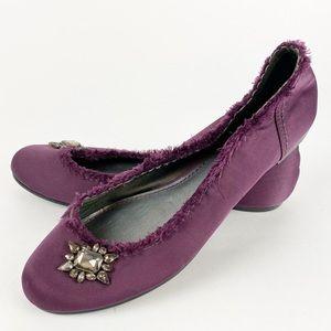 Purple Satin Embellished Ballet Simply Vera Y233